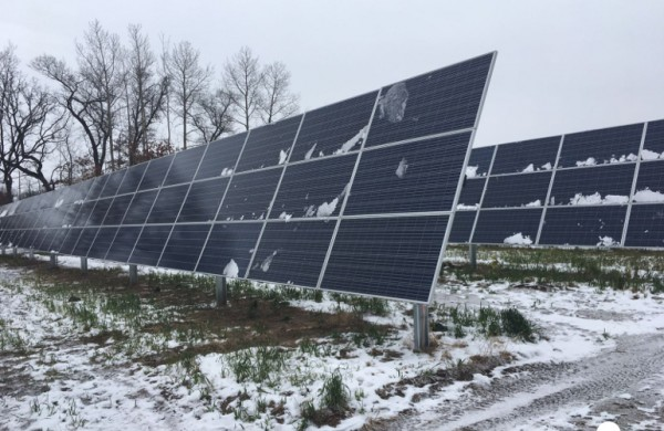Severe Weather's Affect on Solar Power Station