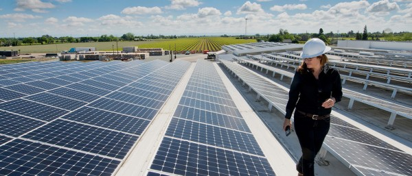 The Distributed Solar System on Industrial and Commercial Building